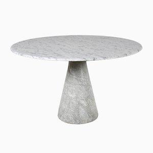 Mesa de comedor vintage de mármol de Carrara de Angelo Mangiarotti