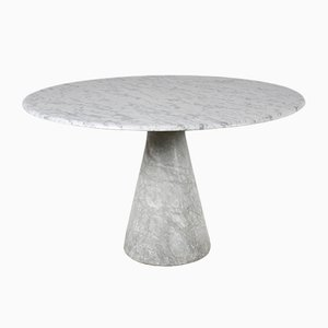 Vintage Carrara Marble Dining Table by Angelo Mangiarotti
