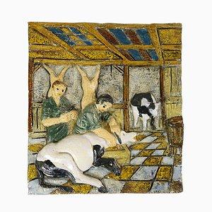 Antike niederländische Wandtafel aus Stein