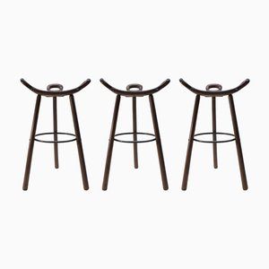 Mid-Century Spanish Marbella Bar Stools, Set of 3