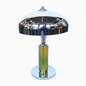 Art Déco Tischlampe mit Kuppelschirm, 1930er