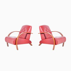 Bentwood Armchairs, 1940s, Set of 2