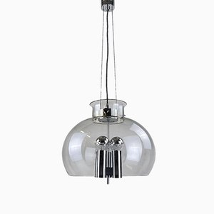 Vintage Glass Ball Pendant Lamp from Limburg
