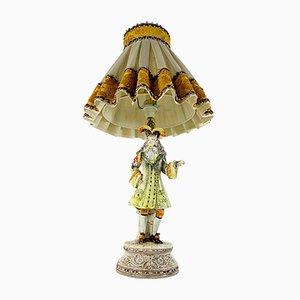 Lampe de Bureau en Porcelaine de Bassano, 1960s