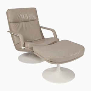 F156 Lounge Chair with Ottoman by Geoffrey Harcourt for Artifort, 1963