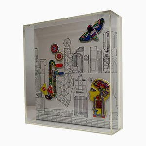 Ceramic Wall Object by Eduardo Paolozzi for Rosenthal, 1980s