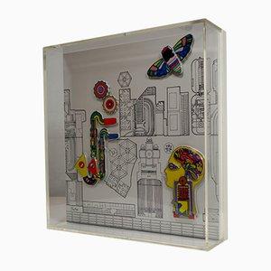 Objeto de pared de cerámica de Eduardo Paolozzi para Rosenthal, años 80