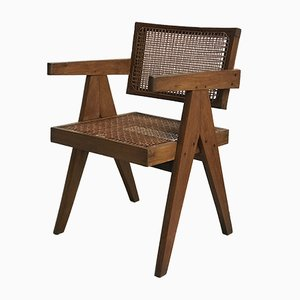 Cane Dining Chair by Pierre Jeanneret, 1950s