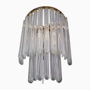 Italian Murano Glass and Gilt Brass Sconce by Paolo Venini for Camer, 1960s