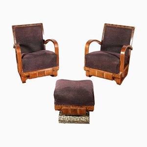 Vintage Art Deco Rosewood Armchair