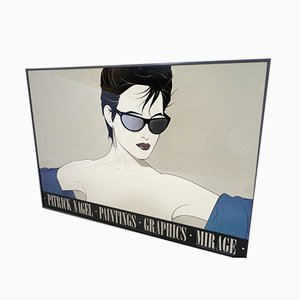Poster by Patrick Nagel for Mirage Editions, 1983