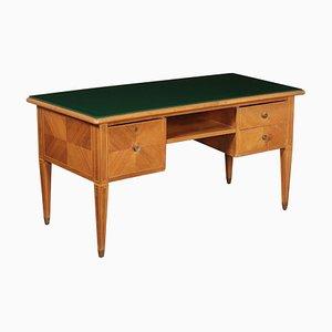 Schreibtisch aus Nussholz, 1950er