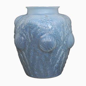 Jarrón Art Déco de vidrio de Rene Lalique, años 30