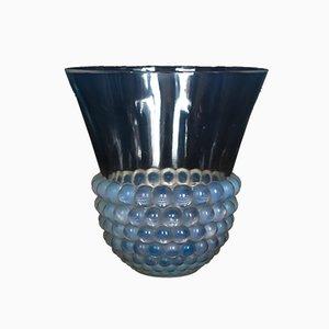 Jarrón Art Déco de vidrio de René Lalique, años 30