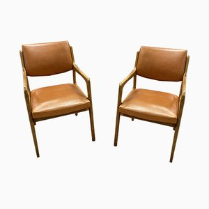 Scandinavian Leatherette Lounge Chairs, 1970s, Set of 2
