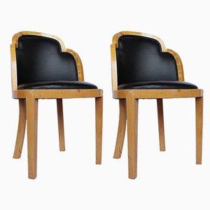 Chaises d'Appoint Art Déco, 1930s, Set de 2