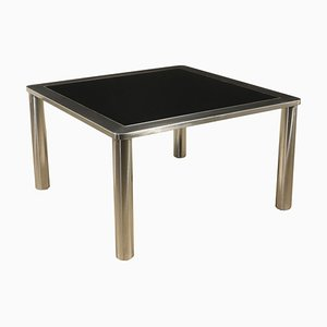 Italian Chromed Metal Side Table, 1970s