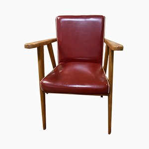 Red Leatherette Armchair, 1970s