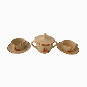 Tea Set by Gio Ponti for Richard Ginori, 1930s, Set of 5