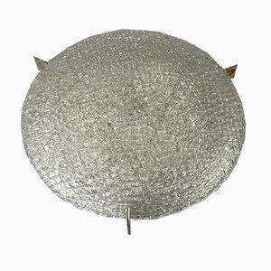 Ice Glass Ceiling Lamp from Kaiser Leuchten, 1960s