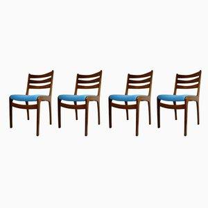 Esszimmerstühle aus Teak im skandinavischen Stil, 1960er, 4er Set