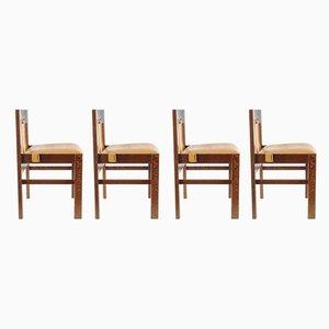 Esszimmerstühle mit Lederbezug von Martin Visser für t Spectrum, 1960er, 4er Set