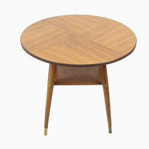 Mid-Century Round Console Table