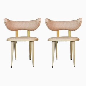 Italian Pink Side Chairs by Umberto Mascagni, 1950s, Set of 2