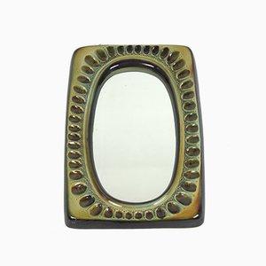 Specchio vintage di Adam Sadulski per Mirostowice, anni '60