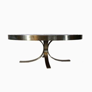 Steel and Tile Coffee Table by Guy Trevoux, 1960s