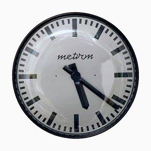 Horloge Murale Modèle TYP Z-857 Noire de Metron, années 70