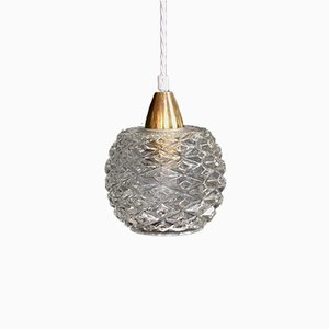 Mid-Century Molded Glass Ceiling Lamp
