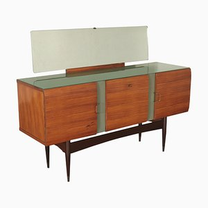 Italian Rosewood Buffet with Mirror, 1950s