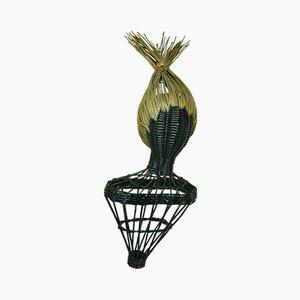 Oggetto decorativo in vimini, anni '60