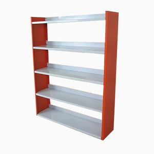Orange and White Enamel Steel Shelf from Tomado, 1950s