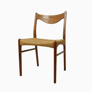 Mid-Century Teak Dining Chair by Arne Wahl Iversen for Glyngøre Stolefabric