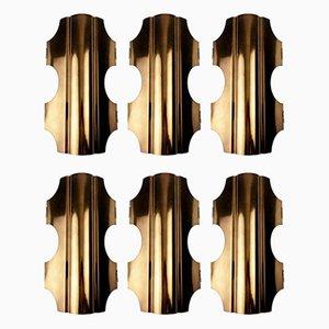 Wandleuchten aus Bronze von Doria Leuchten, 1960er, 6er Set