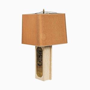 Vintage Hollywood Regency Tischlampe aus Marmor von Georges Mathias