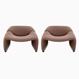Vintage Lounge Chairs by Pierre Paulin for Artifort, Set of 2