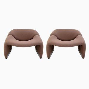Vintage Sessel von Pierre Paulin für Artifort, 2er Set