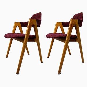 Esszimmerstühle von Kai Kristiansen für SVA Møbler, 1950er, 2er Set