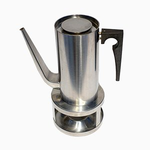 Cylinda Coffee Pot and Stove by Arne Jacobsen for Stelton, 1960s