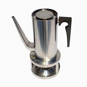 Cylinda Kaffeekanne & Kochfeld von Arne Jacobsen für Stelton, 1960er