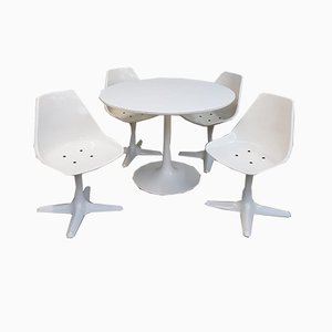 Dining Table & Chairs Set by Maurice Burke for Arkana, 1960s
