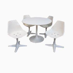 Juego de mesa y sillas de comedor de Maurice Burke para Arkana, años 60