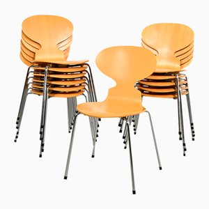 Chaises de Salle à Manger Fourmi Modèle 3100 de Fritz Hansen, années 90, Set de 12