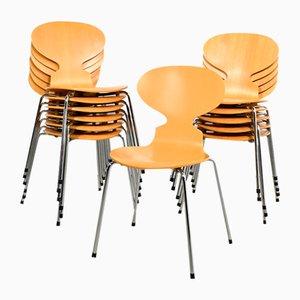 Sedie da pranzo nr. 3100 Ant di Fritz Hansen, anni '90, set di 12