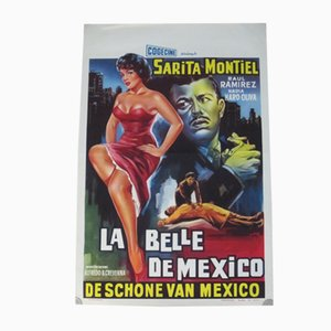 La Belle de Mexico Movie Poster, 1956
