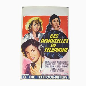 These Demoiselles Telephone Movie Poster, 1950s
