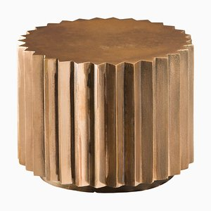 Cast Bronze Multifaceted Doris Side Table by Fred & Juul